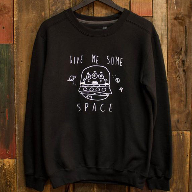 ALIEN Tie Dye Jumper Space Pastel Goth Kawaii Rave Oversized Grunge Hipster 90s