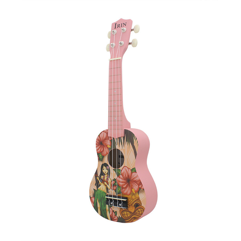 Basswood 21 inch Pink Soprano Ukulele Ukelele Guitar 4 Strings Acoustic Hawaiian Guitar Musical Instruments for girl beginner