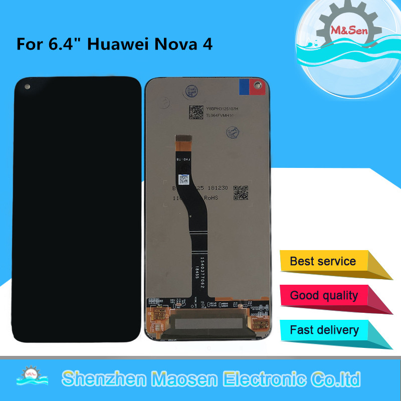 Original M&Sen LCD Screen Display For 6.4 Huawei Nova 4 VCE-AL00 VCE-TL00 Full LCD Display And Touch Panel Digitizer AssemblyOriginal M&Sen LCD Screen Display For 6.4 Huawei Nova 4 VCE-AL00 VCE-TL00 Full LCD Display And Touch Panel Digitizer Assembly