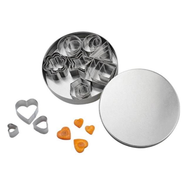 24pcs Stainless Steel Mini Cookie Cutter Set 2