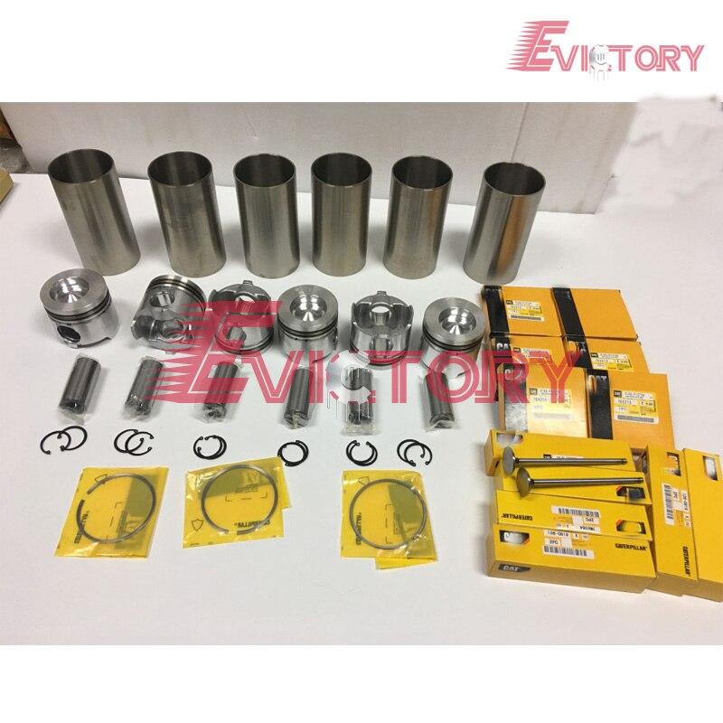 Для компании Caterpillar комплект для капремонта двигателя 3116 т 3116 DITA 3116 поршень + кольцо гильзы цилиндра полная прокладка и подшипник комплект к...