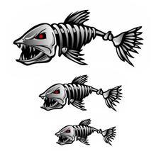 3D Car Sticker Reflective Warning Cartoon Animals Go Fish Window Body Skeleton Shark Truck Auto Decal Accessories Styling go fish dvd