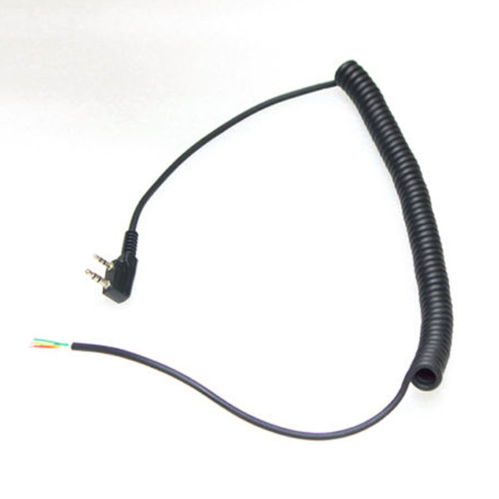 Spring Coiled 2 pin 4 Wire Speaker Mic Cable Spring Line