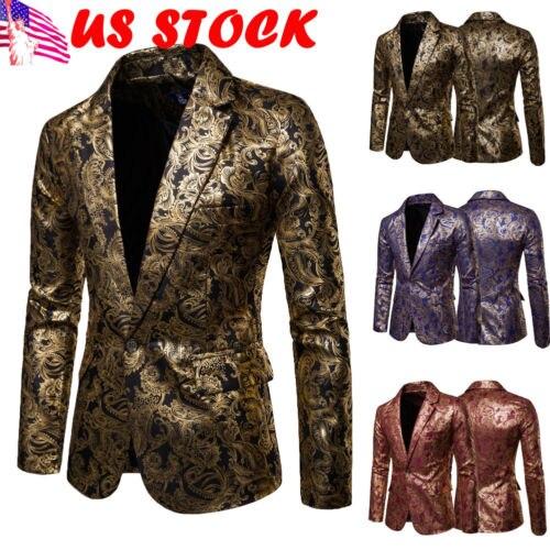 Suits & Blazers Smart Men Sequins Blazer Designs Plus Size 2xl Black Velvet Gold Sequined Suit Jacket Dj Club Stage Party Wedding Clothes