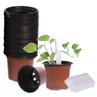100PCS Flower Pot bonsai pot Lightweight Portable Soft Nursery Seedlings Flower Pot Pots for Flowers balcony Decorations
