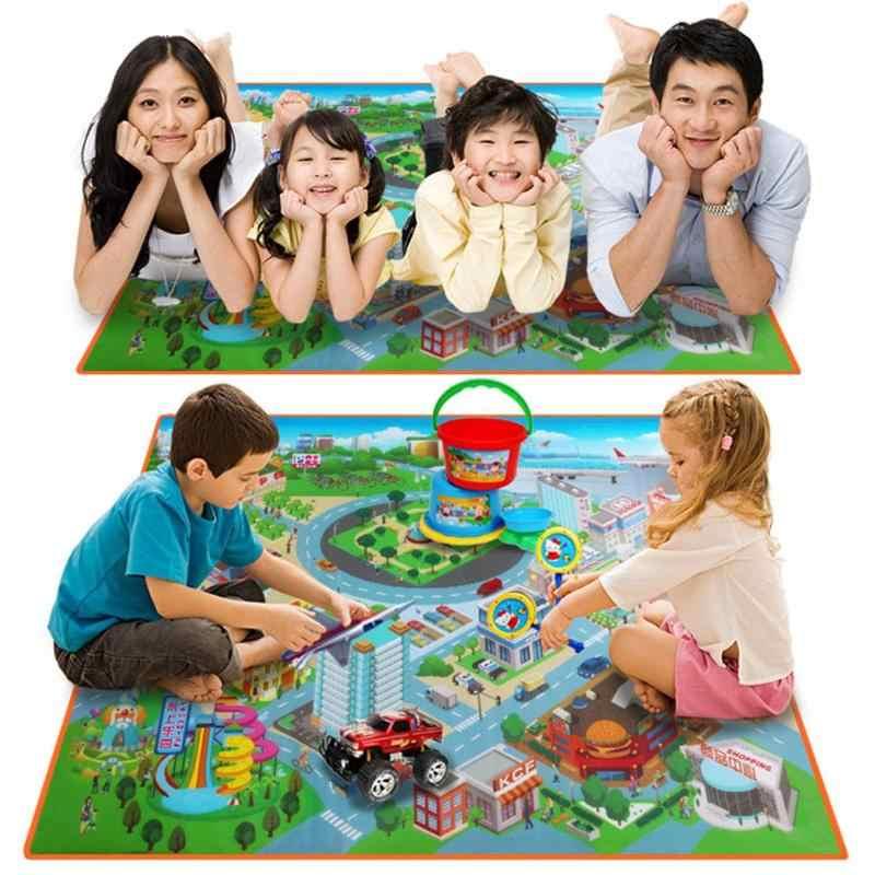 ゲーム敷物クロールルートマップパッドベビー防水折りたたみクライミングのおもちゃ子供ルートマップクロールパッド 120 センチメートル子供カーペット子供