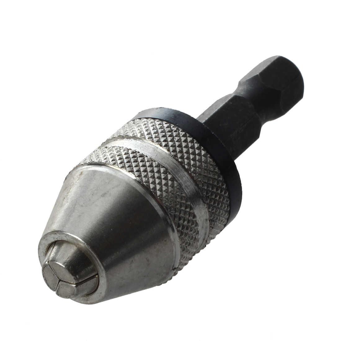 1pc 6.35mm Quick Change Keyless Drill Bit Chuck Hex Shank Adapter Converter Tool