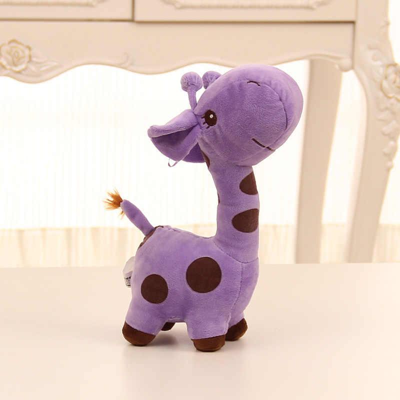 جديد وصول 18 سنتيمتر هدية لطيف لطيف أفخم Giraffe لعبة لينة الحيوان عزيزي للجنسين لطيف هدية للأطفال الأطفال هدايا عيد الميلاد