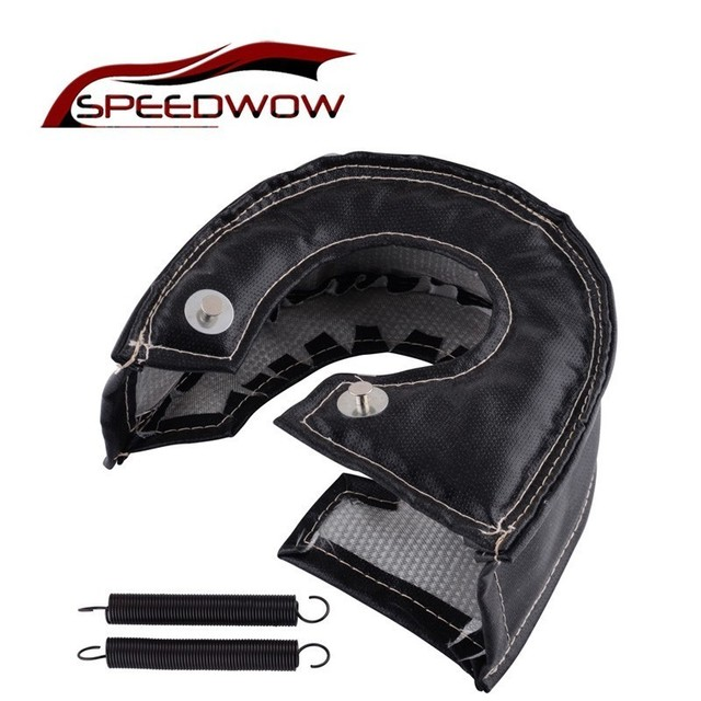 SPEEDWOW Turbo Blanket Cover Heat Shield Turbocharger Barrier Wrap For T4 GT40 GT42 GT55 T67 T66 For Most T4 Turbine Housing