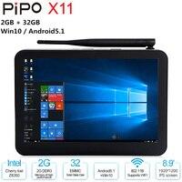 Pipo X11 мини планшетный ПК 8,9 ''ips W10 Android 5,1 ПК Intel Cherry Trail Z8350 1920*1200 1,92 GHz 2 GB 32 GB WiFi BT Декодер каналов кабельного телевидения