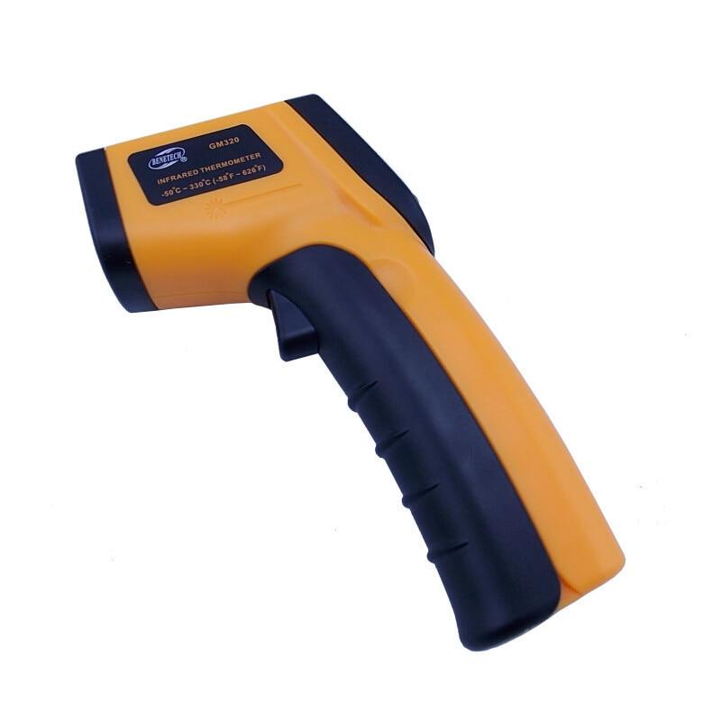 Image 2 - Цифровой термометр бесконтактный инфракрасный температурный  пирометр ИК лазерный точечный пистолет 50 ~ 400 градусов тепловизор  метеостанцияweather stationpoint gunnon contact infrared -