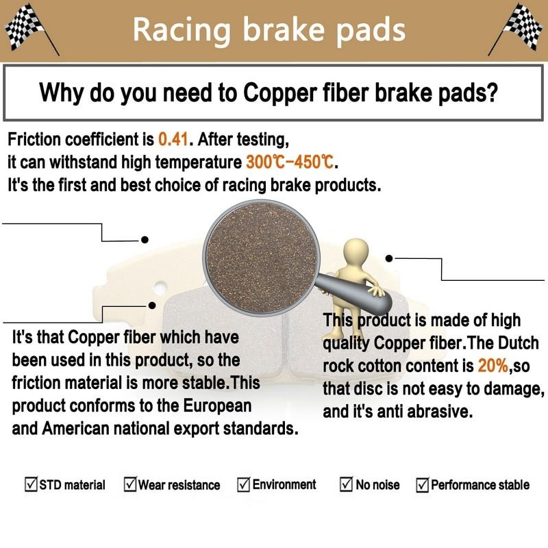 Motorcycle Front Rear Brake Pads For BMW K1200LT K 1200 LT (11/00 09) 2000  2009 R 1200 CL R1200 2002 2004
