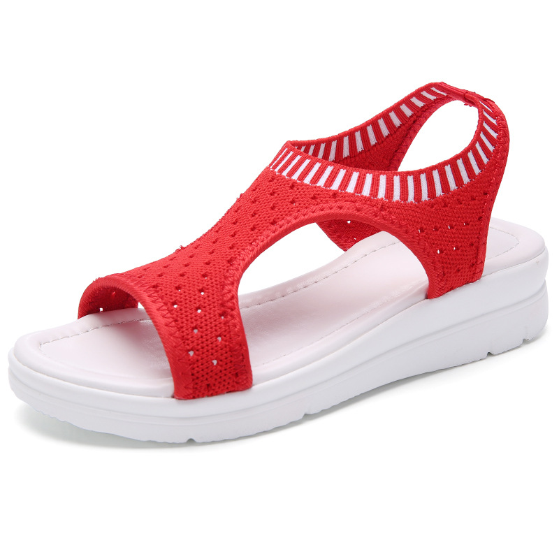 New fashion women sandals summer new platform sandal shoes breathable comfort shopping ladies walking shoes white