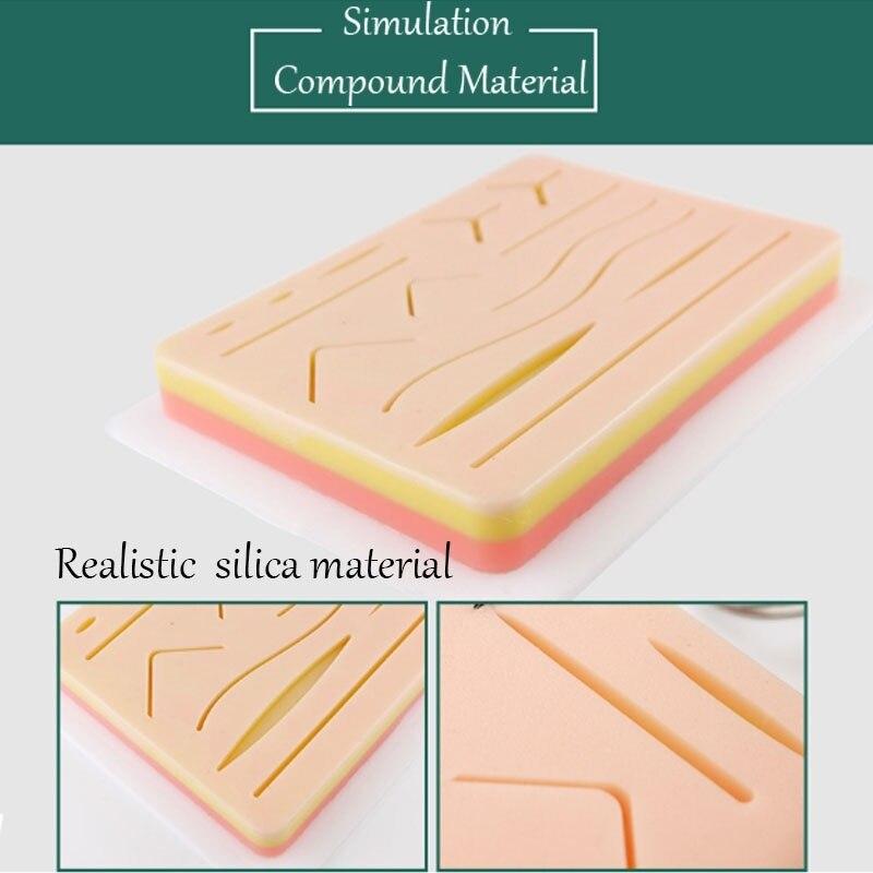 Tıbbi silikon skins Pad cilt sütür yara modülü cerrahi aletler İğne tutucu sütür uygulama simüle Skins