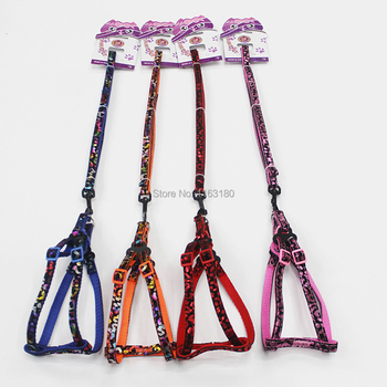 50pcs/lot Small Dog Harness and Leash Soft Nylon Pet Walking Harness Vest Dog Harness Collar