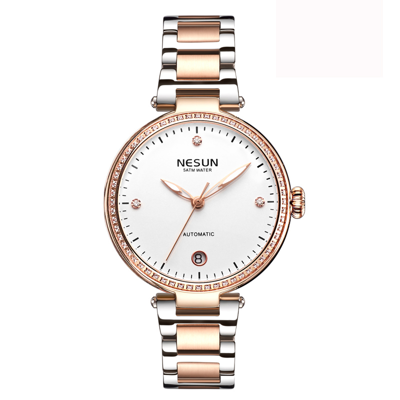 Woman Watches Nesun Japan Miyota Movement Watch Women Luxury Brand Automatic Mechanical Bracelet Watch Ladies Wristwatch
