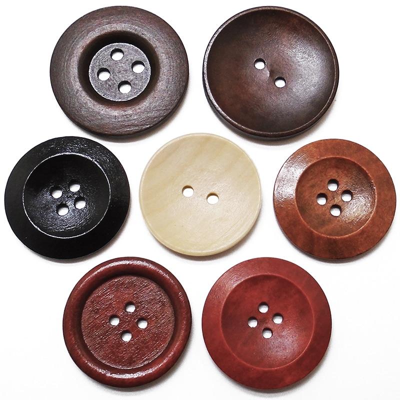 ZIEENE livraison gratuite 1000 pièces 40mm 45mm gros bois naturel rond énormes boutons en bois couture Scrapbooking pour pardessus fait main