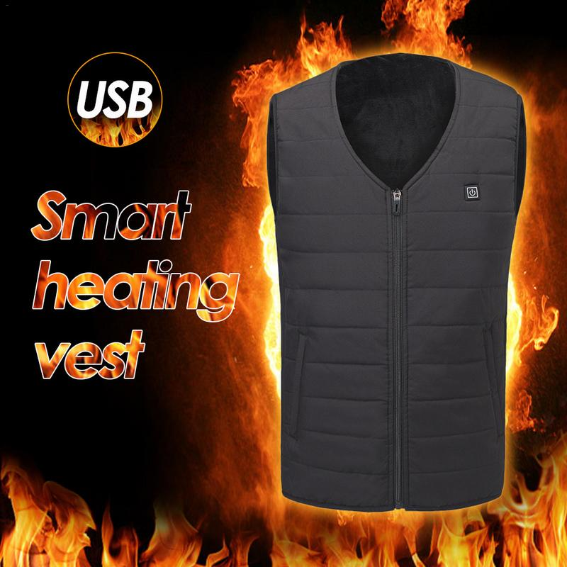 2018 Graphene Heating Vest USB Security Intelligent Constant Temperature Heating Clothing For Men And Women