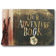 Винтаж 20 шт 40 страниц крафт-бумага листы карты наши мои приключения книга альбом ручной работы Pixar Diy Фото скрапбук фото Albu
