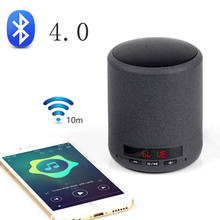 Mini Portable Bluetooth Speaker Wireless Column Bass Sound Stereo Subwoofer Fm Radio Handsfree Tf Card Usb Mp3 Player For Phon(China)