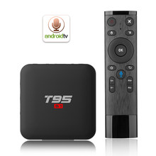 T95 S1 Android 7.1 TV Box Amlogic S905W Voice Remote Control Smart TV Set Top Box Quad Core 2GB/16GB 2.4G WiFi HD Media Player(China)