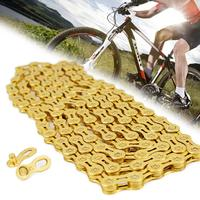 11 Speed Bike Chain Mountain Cycling Full Hollow Half Hollow Chain Gold Ultralight Bicycle Chain MTB Road Bike Bicycle Parts