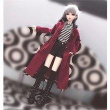 Куклы одежда для мягкого плюша; аксессуары для куклы, Модная Кукла пальто пикантные кожаные штаны футболка кукла Костюмы для 1/3 1/4 1/6 BJD DD MSD