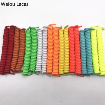 (30 Pairs/Lot) Weiou Elastic Spring Curly No Tie Shoelaces Stretch 110cm Coiled Shoe Laces For Elderly Children Casual Sneakers