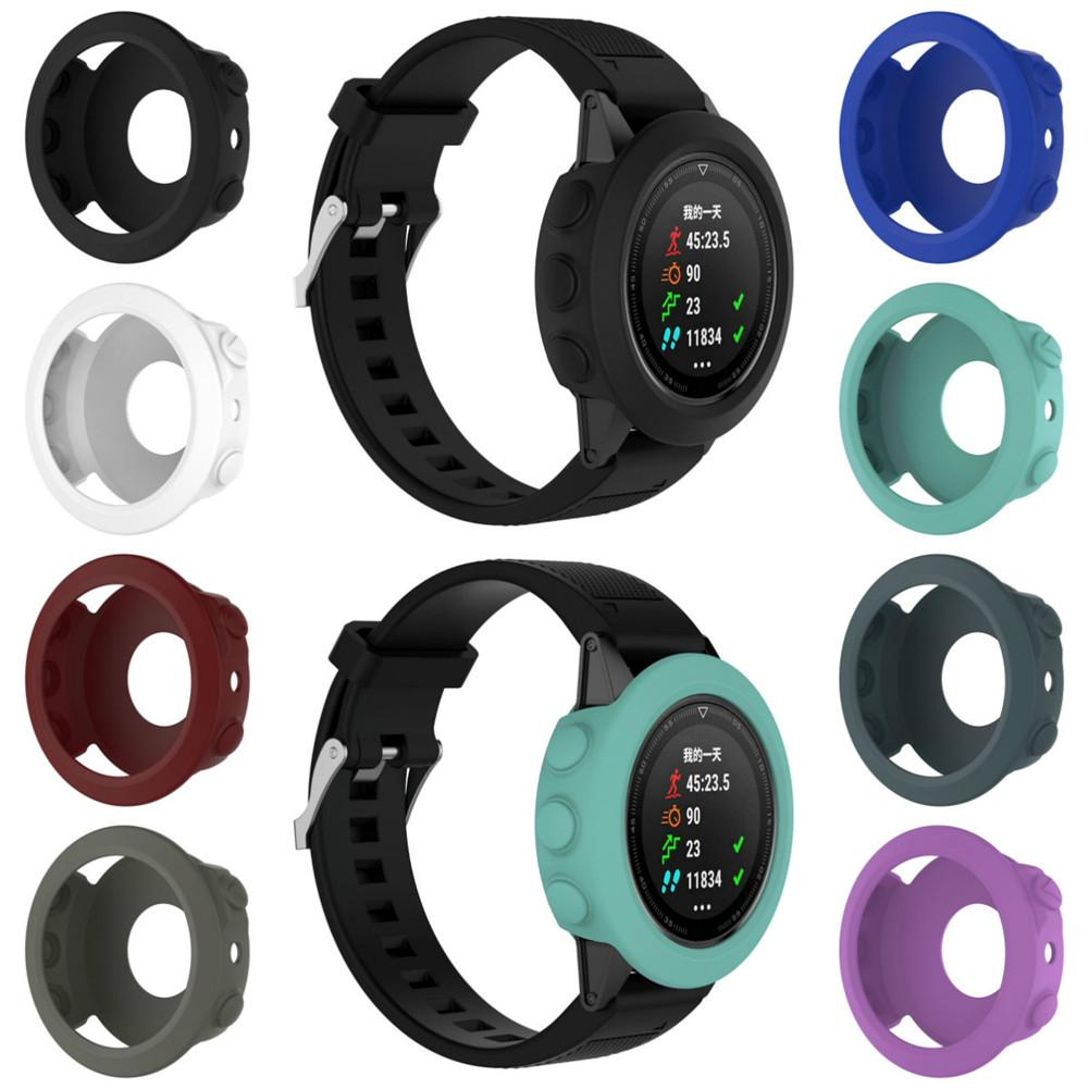 Image 2 - High quality Silicone Protective Case Cover Wristband Bracelet Protector For Garmin Fenix 5 Smart Watch Colorful Silicone-in Smart Accessories from Consumer Electronics
