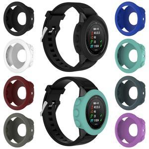 Image 2 - Wysokiej jakości silikonowe skrzynki pokrywa opaska na nadgarstek bransoletka Protector dla Garmin Fenix 5 smart watch kolorowe silikonowe