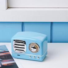 Mini Altavoz Bluetooth Vintage portátil 3D estéreo Surround reproductor de efectos de sonido HiFi compatible con tarjeta TF para teléfono inteligente