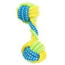 Хлопковая игрушка из веревки для собак, домашних животных, прочный, играющий узел, лоскутный шар, чистка зубов, жевательная собака, мяч: 5,5 см/2,16(D) игрушки