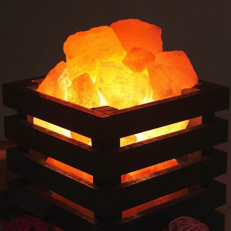 Modern Minimali Crystal Rock Heating Natural Himalayan Salt Lamps Bedroom Bedside Wall Lamp Living Room Wall Corridor Lamp