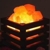 Modern Minimali Crystal Rock Heating Natural Himalayan Salt Lamps Bedroom Bedside Wall Lamp Living Room Wall Corridor Lamp