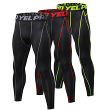New GYM Compression Pants Men Elastic Workout Gym Fitness Tights Quick Dry Training Marathon Basketball running tights men