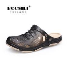 2018 Real Sandals Men Sandal Men's Ventilationshoes Double Color Garden High Quality Breathable Clogs Lightweight 3 Colours reef men s real tree phantoms thong sandal