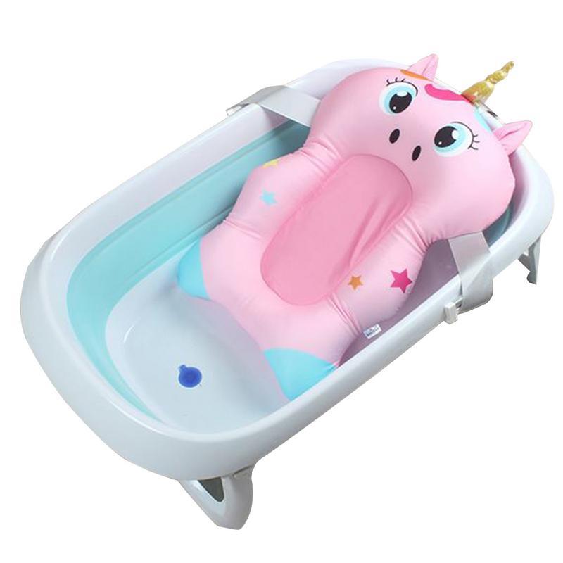 cremalheira do chuveiro do bebe suprimentos recem nascidos banheira anti skid almofada bolso bebe banho net