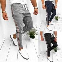 Мужские спортивные брюки для спортзала, облегающие штаны для бега, повседневные длинные брюки