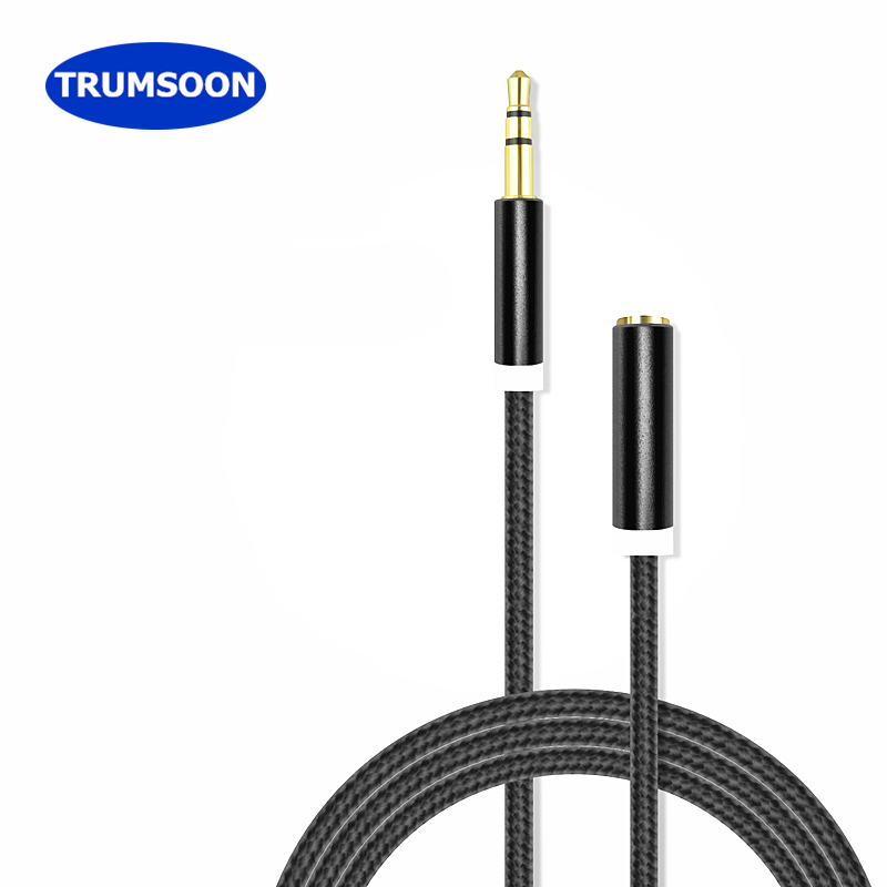 Trumsoon 10pcs Aux 3.5 Extension Cable Male to Female Audio AUX Cord Line for PC MP3 Speaker Phone Car Earphone