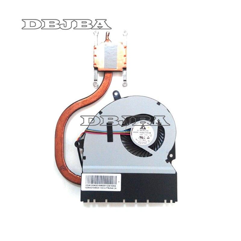 Nouveau ventilateur de refroidissement Pour Asus X401A X401E X401EI X401 X501 X501A X301 X301A Ventilateur Avec Dissipateur Thermique 13GN3O1AM020-1 KSB0705HB-CA29Nouveau ventilateur de refroidissement Pour Asus X401A X401E X401EI X401 X501 X501A X301 X301A Ventilateur Avec Dissipateur Thermique 13GN3O1AM020-1 KSB0705HB-CA29