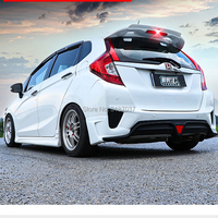 For Honda GK5 Fit / Jazz 2014 2015 2016 2017 Car Decor ABS Plastic Unpainted Color Rear Spoiler Wing Trunk Lid Cover Car Styling