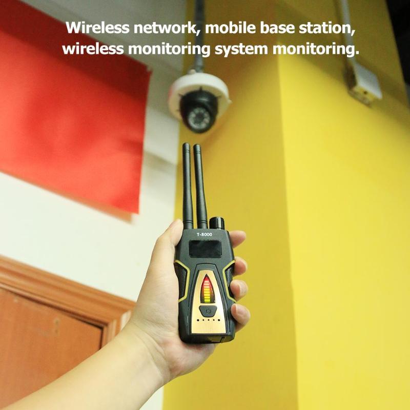 T-8000 Anti Candid Caméra Sans Fil RF Signal Détecteur Audio Finder GPS Scan Détecteur Finder Protéger La Vie Privée de Sécurité offre spéciale
