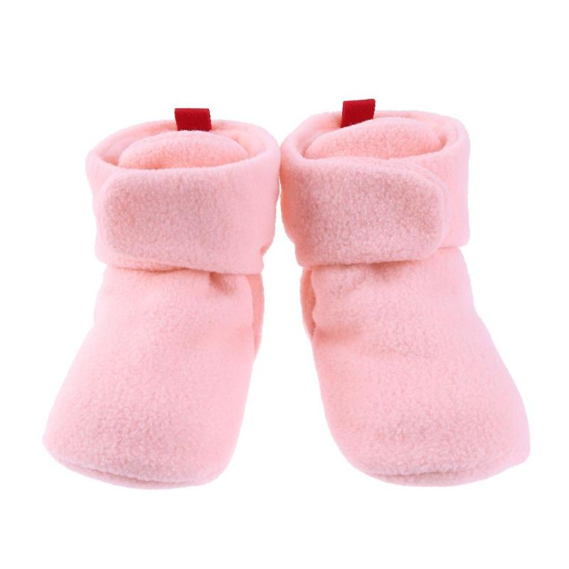 Cute Winter Baby Fleece Warm Infant Shoes Classic Soft Sole Stickers Floor Boots