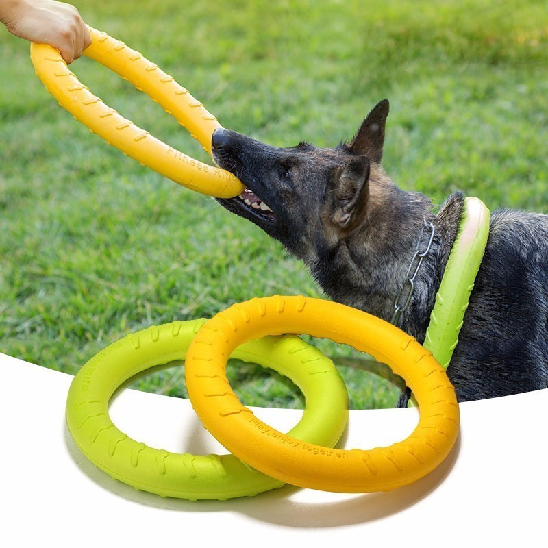 17/27cm Dog Agility Training Toys Eva Ring Dogs Puppy Chew Toys Teeth Cleaning Bite Resistant Interactive Dogs Toy Pet Supplies