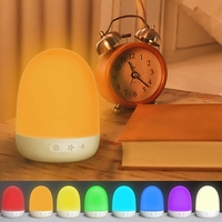 New Night Lights For Kids, Baby Night Light,Bedside Lamp,Portable Tent Lights With 7 Colors Light Mode,Tap Mode Us Plug