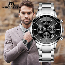 MEGALITH Man Watches 2018 Top Brand Luxury Quartz Watch Waterproof Chronograph A