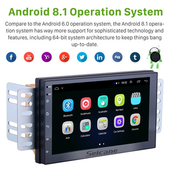 Seicane Universal Android 8.1 7 inch Double Din Car Radio GPS Multimedia Unit Player For TOYOTA Nissan Kia RAV4 Honda VW Hyundai