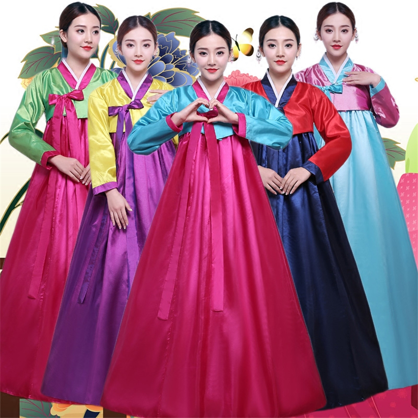 10Color Korean Fashion Ancient Costumes Women Hanbok Dress Traditional Party Asian Palace Cosplay Performance Clothing