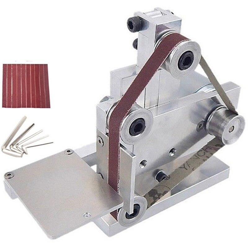 Eu Plug Diy Mini Belt Sander Bench Mount Grinder Polishing Grinding Machine Buffer Electric Angle Grinder