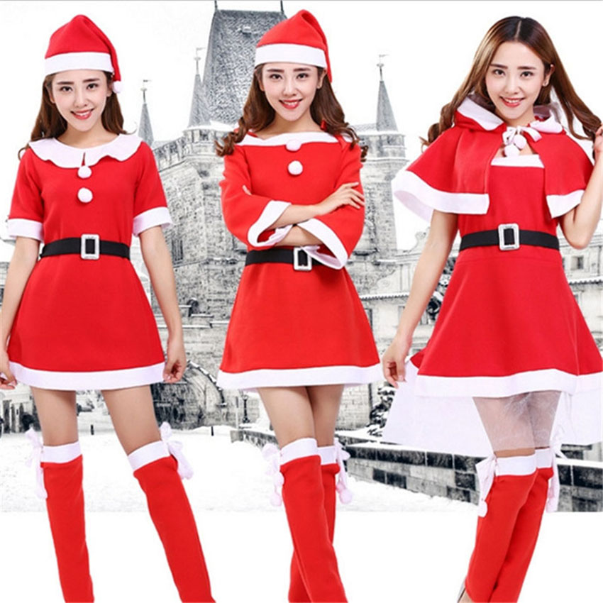 New Year Costumes Festival Santa Dress for Women Christmas Festival Party Stage Performance Plus Size Elf Cosplay Female